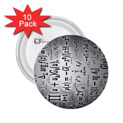 Science Formulas 2 25  Buttons (10 Pack)  by BangZart