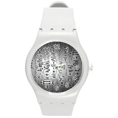 Science Formulas Round Plastic Sport Watch (m) by BangZart