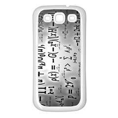 Science Formulas Samsung Galaxy S3 Back Case (white)