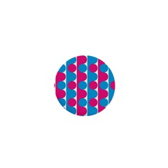 Pink And Bluedots Pattern 1  Mini Buttons