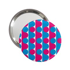 Pink And Bluedots Pattern 2 25  Handbag Mirrors
