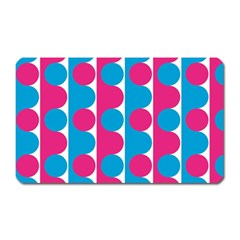 Pink And Bluedots Pattern Magnet (rectangular) by BangZart