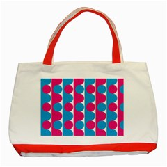 Pink And Bluedots Pattern Classic Tote Bag (red)