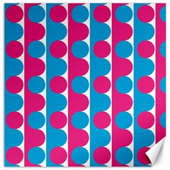 Pink And Bluedots Pattern Canvas 12  X 12