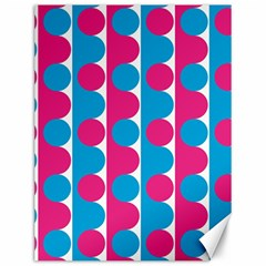 Pink And Bluedots Pattern Canvas 12  X 16