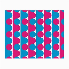 Pink And Bluedots Pattern Small Glasses Cloth (2 Side)