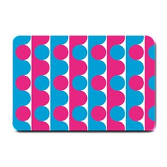 Pink And Bluedots Pattern Small Doormat