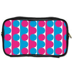 Pink And Bluedots Pattern Toiletries Bags