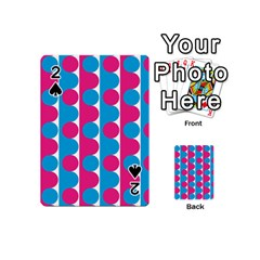 Pink And Bluedots Pattern Playing Cards 54 (mini)