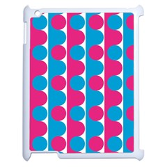 Pink And Bluedots Pattern Apple Ipad 2 Case (white) by BangZart