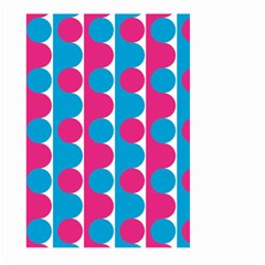 Pink And Bluedots Pattern Large Garden Flag (two Sides)