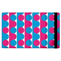 Pink And Bluedots Pattern Apple Ipad 3/4 Flip Case