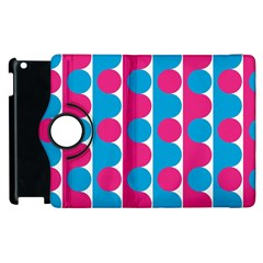 Pink And Bluedots Pattern Apple Ipad 2 Flip 360 Case by BangZart
