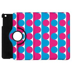 Pink And Bluedots Pattern Apple Ipad Mini Flip 360 Case