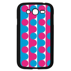 Pink And Bluedots Pattern Samsung Galaxy Grand Duos I9082 Case (black)