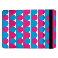 Pink And Bluedots Pattern Samsung Galaxy Tab Pro 12 2  Flip Case