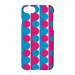 Pink And Bluedots Pattern Apple Iphone 7 Hardshell Case