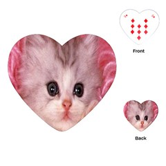 Cat  Animal  Kitten  Pet Playing Cards (heart)