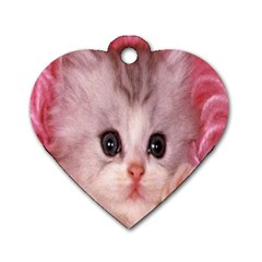 Cat  Animal  Kitten  Pet Dog Tag Heart (two Sides)