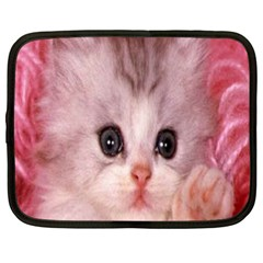 Cat  Animal  Kitten  Pet Netbook Case (large)