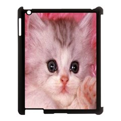 Cat  Animal  Kitten  Pet Apple Ipad 3/4 Case (black)