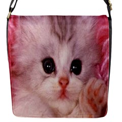 Cat  Animal  Kitten  Pet Flap Messenger Bag (s) by BangZart