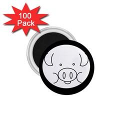 Pig Logo 1 75  Magnets (100 Pack)