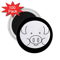 Pig Logo 2 25  Magnets (100 Pack)