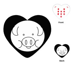 Pig Logo Playing Cards (heart)  by BangZart