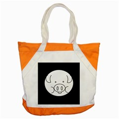 Pig Logo Accent Tote Bag