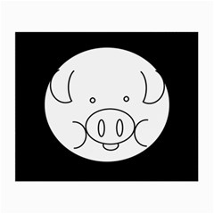 Pig Logo Small Glasses Cloth (2 Side) by BangZart
