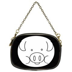 Pig Logo Chain Purses (one Side)
