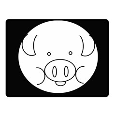 Pig Logo Fleece Blanket (small)