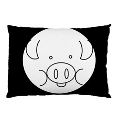 Pig Logo Pillow Case (two Sides)