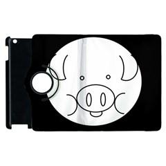 Pig Logo Apple Ipad 3/4 Flip 360 Case by BangZart