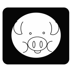 Pig Logo Double Sided Flano Blanket (small)  by BangZart