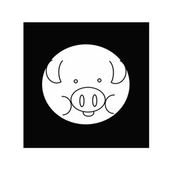 Pig Logo Small Satin Scarf (square)