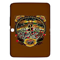 Tattoo Art Print Traditional Artwork Lighthouse Wave Samsung Galaxy Tab 3 (10 1 ) P5200 Hardshell Case
