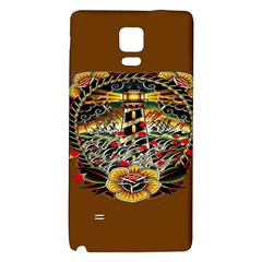 Tattoo Art Print Traditional Artwork Lighthouse Wave Galaxy Note 4 Back Case