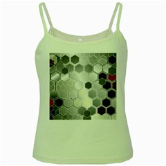 Honeycomb Pattern Green Spaghetti Tank