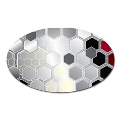 Honeycomb Pattern Oval Magnet