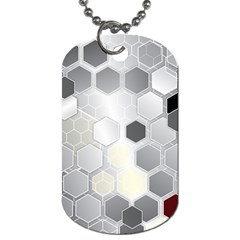 Honeycomb Pattern Dog Tag (two Sides) by BangZart