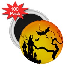 Halloween Night Terrors 2 25  Magnets (100 Pack)  by BangZart