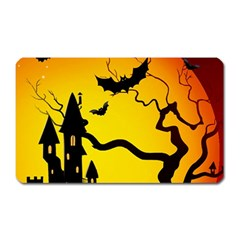 Halloween Night Terrors Magnet (rectangular)