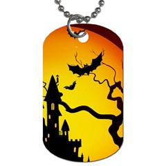 Halloween Night Terrors Dog Tag (one Side) by BangZart