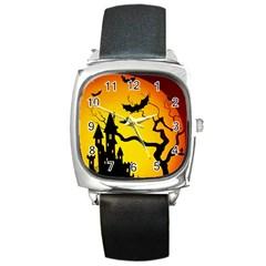 Halloween Night Terrors Square Metal Watch by BangZart