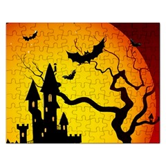 Halloween Night Terrors Rectangular Jigsaw Puzzl by BangZart