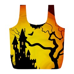 Halloween Night Terrors Full Print Recycle Bags (l)