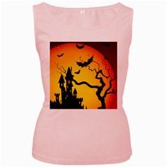 Halloween Night Terrors Women s Pink Tank Top