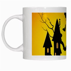 Halloween Night Terrors White Mugs by BangZart